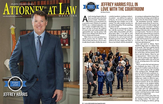 Attorney Magazine Jeffrey Harris